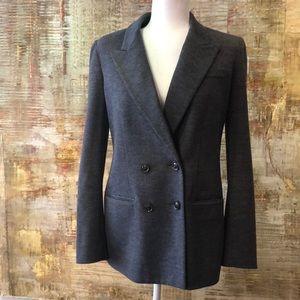 Diane Von Furstenberg Jackets & Coats - Grey double breasted blazer
